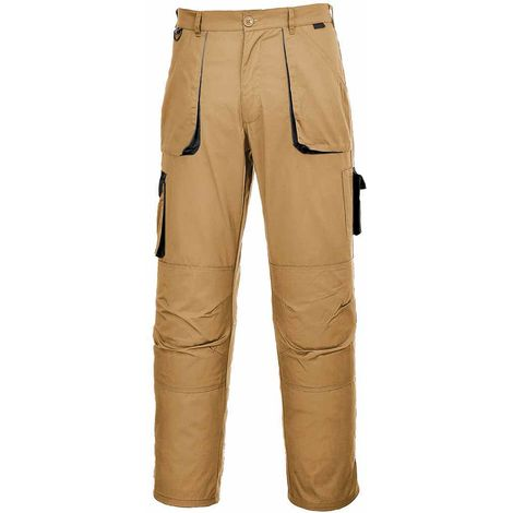 Portwest - Texo Hardwearing Workwear Elasticated Cotton Rich Contrast Trouser
