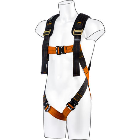Portwest - Ultra 1 Point Full Body Fall Arrest Harness Red XL/2XL