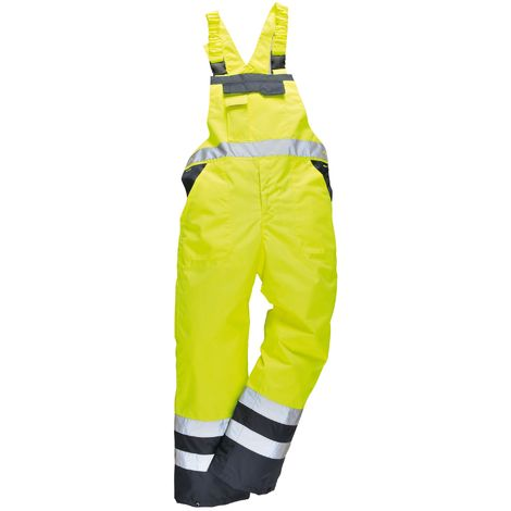 Portwest Unisex Contrast Hi Vis Bib And Brace Coveralls - Unlined (S488) / Workwear