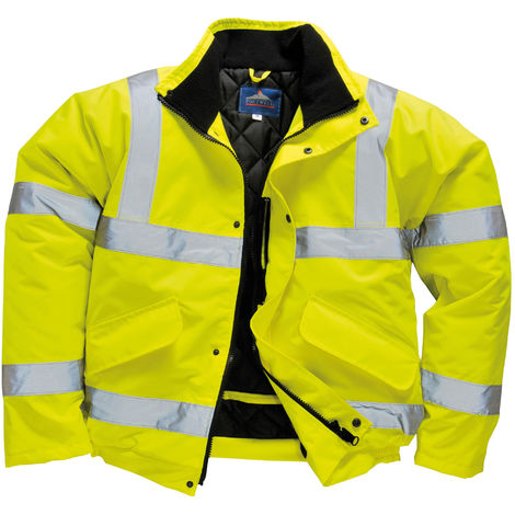 Portwest Unisex Hi-Vis Bomber Jacket (S463) / Workwear / Safetywear (Pack of 2)