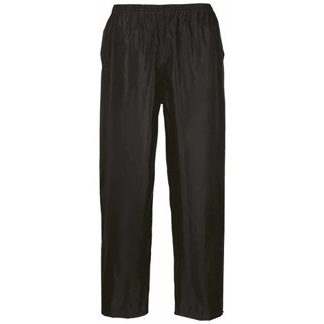 Portwest - Unisex Safety Workwear Rain Trousers With Reflectors Strips