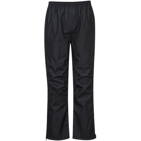 Portwest - Vanquish Workwear Waterproof Over Trousers, Black, XL,