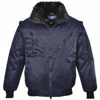 Portwest - Versatile All-Weather 4-In-1 Warm Fur Lined Outdoor Pilot Jacket