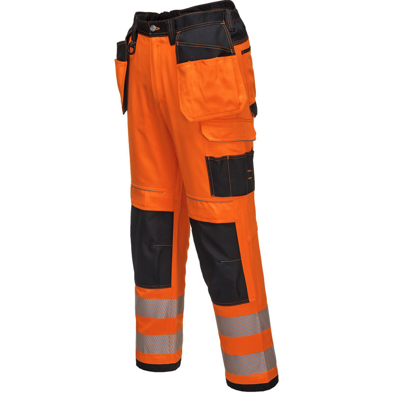 Suw-Hi-Vis Contraste Safety Workwear Bib /& Brace Dungarees-non doublée