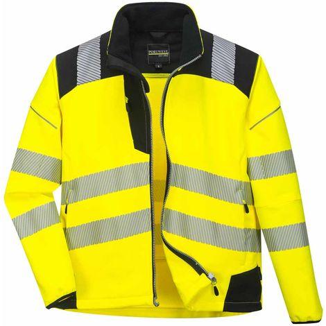 e8e1207cc3b Portwest - Vision Hi-Vis Workwear Softshell Jacket Yellow-Black 3X-Large