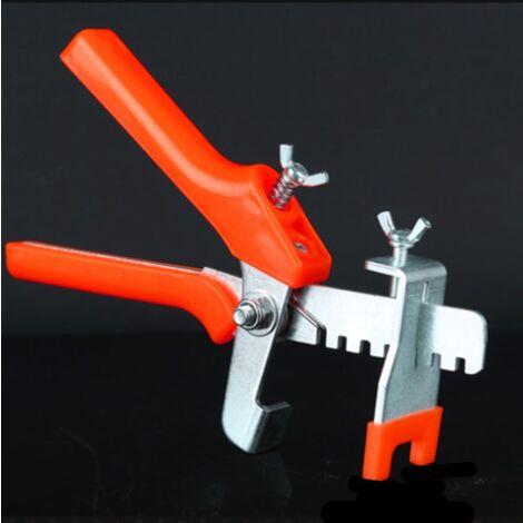 Positionneur de carrelage, niveleur, pince à pousser, positionneur de carrelage, niveleur, aide à la fixation de carrelage-orange