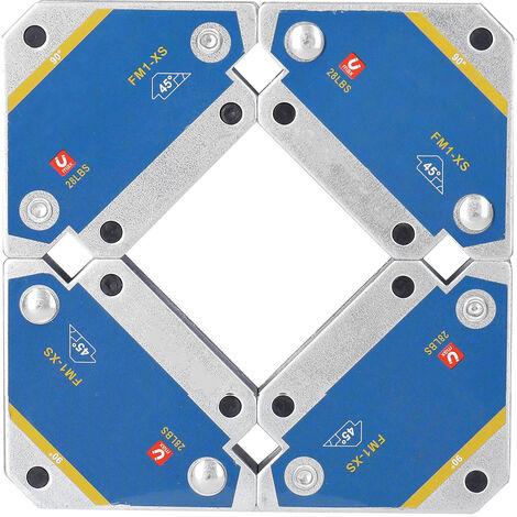Positionneur de soudage magnetique ferrite tenant la fixation auxiliaire FM1-XS, aspiration simple 28LBS / 12,5 kg