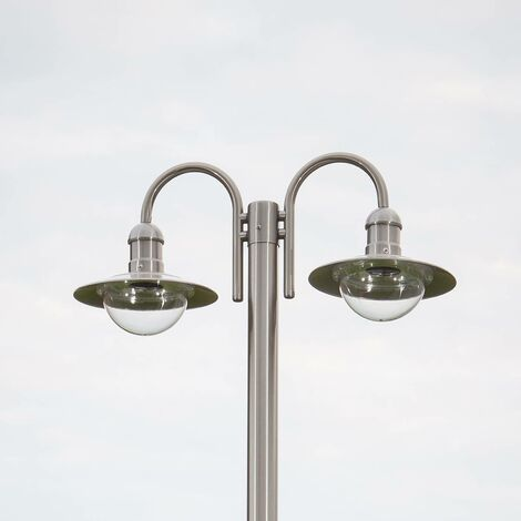 What Is Stainless Steel Made Of >> Post Light Damion Modern In Silver Made Of Stainless Steel 2
