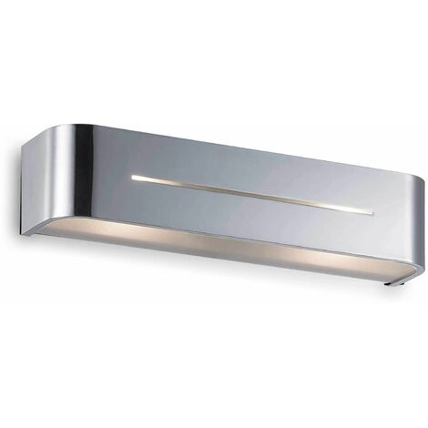 POSTA chrome wall light 2 bulbs