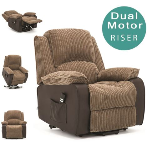 POSTANA DUAL RISE RECLINER FABRIC ARMCHAIR - different colors available