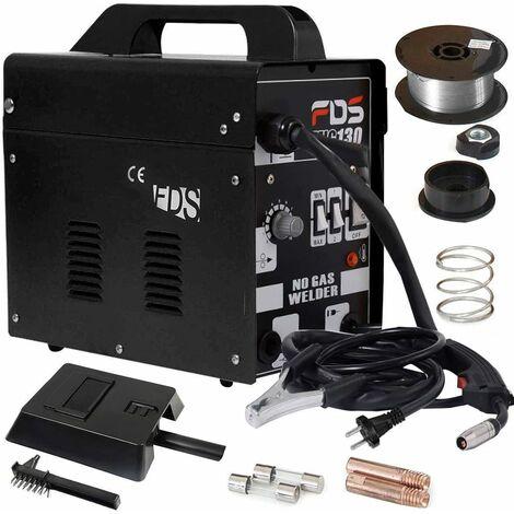Poste à souder 230V inerte FLUX gaz inerte MIG 130 électrode de soudage fil fourré