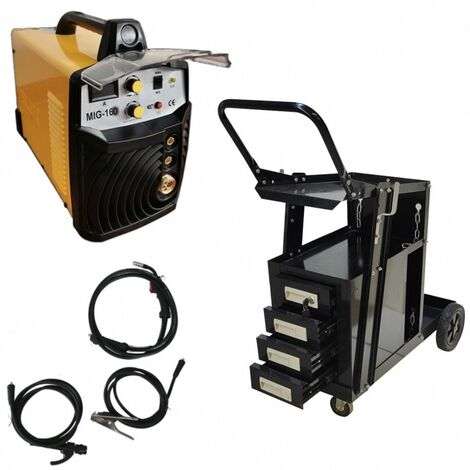 Poste à souder 2en1 MIG/MAG/MMA IGBT/inverter 160A + chariot avec 4 tiroirs de transport Silex®