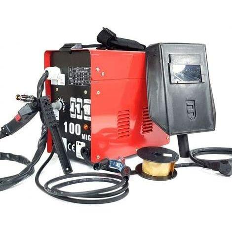 """main image of """"Poste à souder fil continu MIG-100 SANS GAZ Soudeuse aérée avec accessoires"""""""