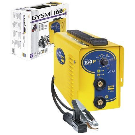 Poste à souder GYS à l'électrode Inverter - GYSMI 160P - Livré en valise avec câble de masse et porte électrode - 030077
