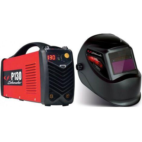 Poste à souder Inverter 130A + Cagoule Electronique LCD SCHUMACHER Professional