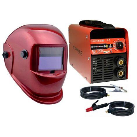 Poste a souder Inverter 130A Tecnoweld + Cagoule RED LCD Automatique