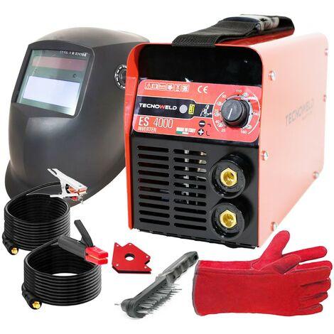 Poste à souder inverter 160A TECNOWELD + Cagoule LCD 9/13 + Aimant + Gants Anti chaleur