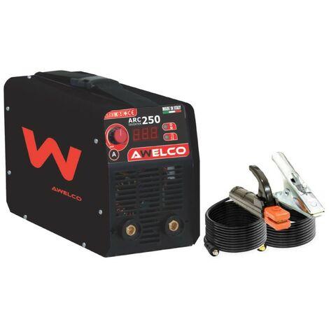 Poste à souder inverter ARC 250 Soudure à l'arc acier-fonte-inox diam 1.6 - 5 mm MMA Professionnel AWELCO
