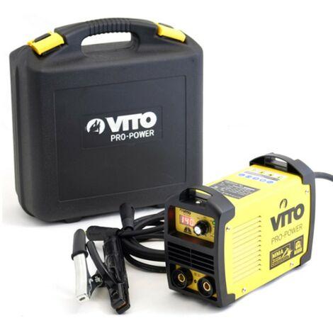 Poste a souder inverter numerique VITO 140 - soudure à l'arc -baguettes soudeur 1.6-3.2 - soude acier-fonte-inox -