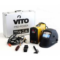 Poste a souder inverter numerique VITO 150 soudure à l'arc -baguettes 1.6-4 acier-fonte-inox + Cagoule LCD 9/13 VITO