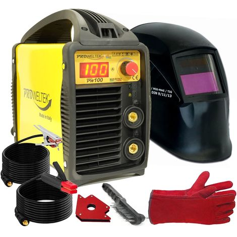 Poste à souder inverter PW100 PACK Accessoires Gants anti chaleur et Aimant de soudage PROWELTEK