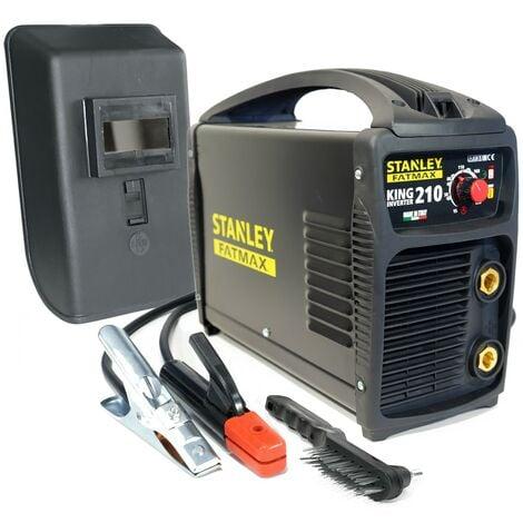 Poste à souder inverter STANLEY FATMAX KING 210 PRO 100% Duty cycle MMA TIG LIFT Electrodes Acier Inox Fonte Basiques 1.6 à 5 mm