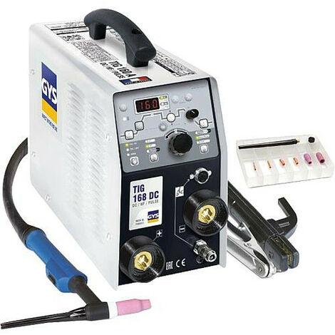 Poste à souder INVERTER TIG GYSMI 168 HF DC monophasé avec accessoires TIG