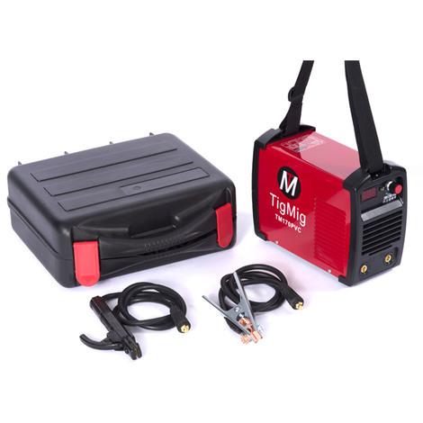POSTE A SOUDER INVERTER TM 170 PVC MMA 160 AMP ÉLECTRODE VALISE PVC ACCESSOIRES INCL. TM 170 PVC