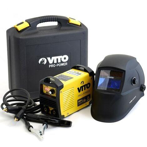 Poste à souder inverter VITO 140 + Cagoule LCD VITO 9/13 + Lot 12 électrodes Acier Ø 2.5mm