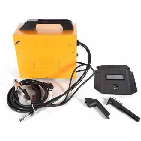 Poste à Souder Machine de Soudure Electrique Soudeur Portable Machine à Souder Portable MIG 130 220V (Jaune)