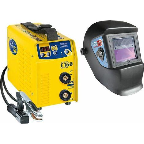 Poste a souder manuel GYSMI E160 avec casque de soudeur LCD Techno 9-13