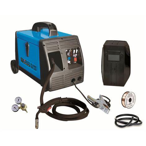 Poste à souder MIG 160 Ampères BLUEMIG GAZ et NO GAZ AWELCO Professionnel avec Réducteur GAZ