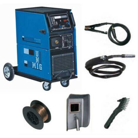 Poste a souder MIG 240 Ampères Professionnel GAZ NO GAZ AWELCO sur roues Complet + Accessoires MIG MAG MOG