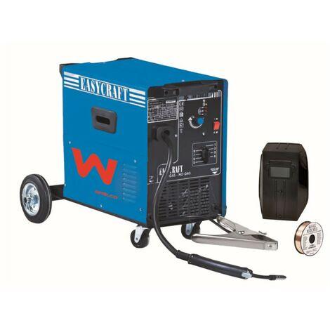 Poste à Souder MIG GAZ et Sans GAZ EASYKRAFT 150 AWELCO Ventilé sur roues