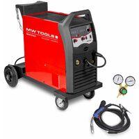 Poste à souder MIG-MAG-FLUX industriel mobile 200 A - manomètre inclus MW-Tools MIG200I
