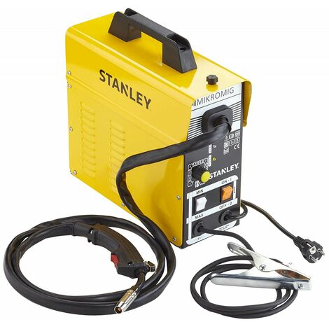 Poste à souder Mig-Mag no gas Stanley Mikromig Câble de masse, Torche, fil fourré et masque de soudage