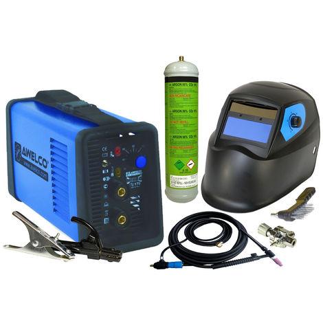 Poste à souder MMA TIG LIFT Mikrotig 170 Cagoule LCD Torche TIG à valve - argon +Détendeur+ elect MMA + Tungstène