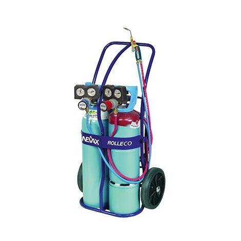 Poste à souder oxyacétyléniques Rolleco - 100L - Bleu