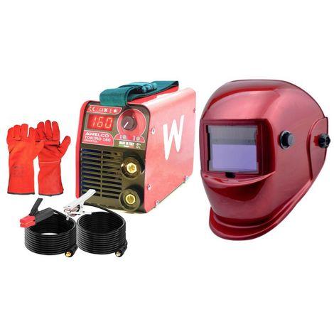 Poste à souder PACK RED TECNOWELD Inverter 160 A + Cagoule AUTO LCD 9/13 + Gants Anti chaleur + Mallette