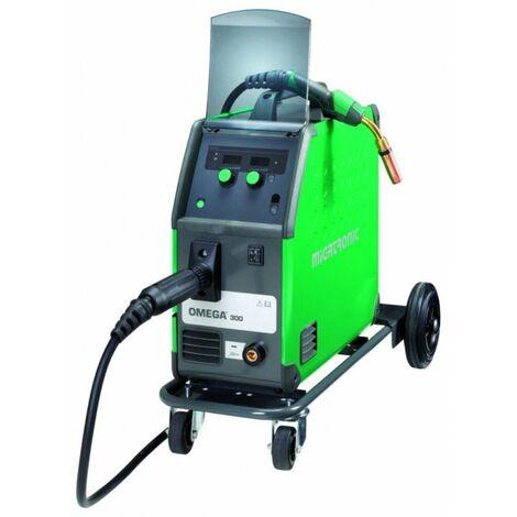 Poste à souder portatif Omega 300 Basic Boost - 300A - MIG - ø0.6 à 1.6mm - avec chariot, câble de masse et torche MB36