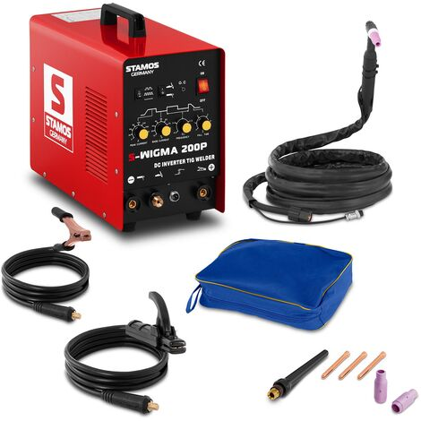 Poste à souder Soudage Pulse Puls Tig Wig Mma Inverter Dc Hf 200A Stamos Welding