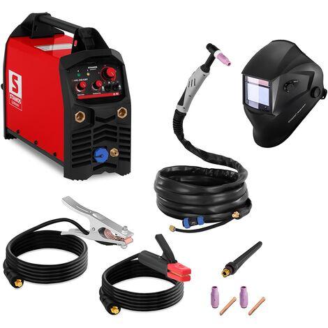 Poste à Souder Tig Mma Cc 200 A 230 V Inverter Igbt + Masque Solaire Din 9-13