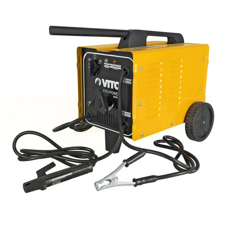 Poste à souder ventilé VITO POWER de 160 A à réglage manuel à shunt monophasé. Équipé de roues de transport