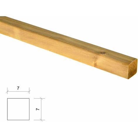 Poste de madera cuadrado tratado y cepillado 7x7x230cm