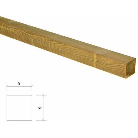 """main image of """"Poste de madera cuadrado tratado y cepillado 9x9x230cm"""""""