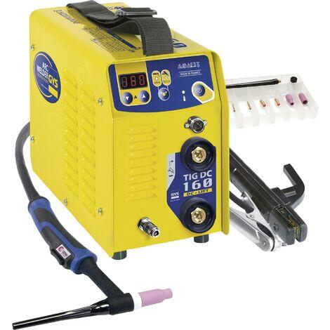 Poste de soudage Inverter avec accessoires GYS TIG 160 011106 20 - 160 A 1 pc(s) C90218