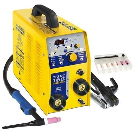 Poste tig gysmi 168 hf dc pulse mono+ torche 4m. porte elec.pince mas