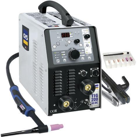 Poste de soudure Inverter Tig 200 AC/DC-HF FV GYS avec accessoires - 11618