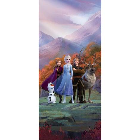 Poster de porte Intissé - Disney La Reine des Neiges 2 - 90 cm x 202 cm