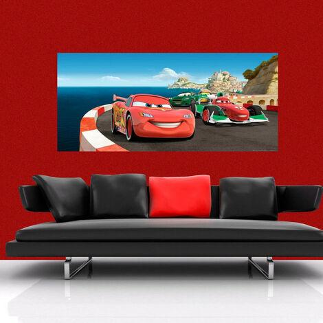 Poster géant Cars Sur Piste Disney intisse 202X90 CM